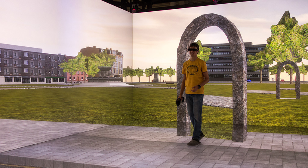 "Foto zum Thema ""Reorientation in Virtual Environments Using Interactive Portals"""